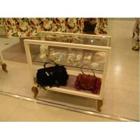 Wholesale ISO Approval Brown Wooden Glass Display Cabinet For Bags / Clothes Sale from china suppliers