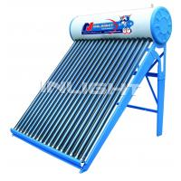 80L low pressure color steel  vacuum tube solar water heater for small family use