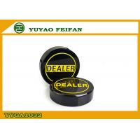 Wholesale Deluxe Acrylic Poker Dealer Button Black With Yellow Letters 70mm Diameter from china suppliers