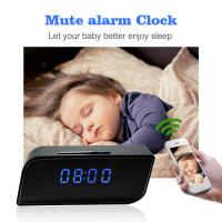 Wholesale Mini Hidden Spy Camera Wireless Alarm Clock, New Night Vision 1080P P2P IP CCTV Camera Mini Wifi Clock Security Camera from china suppliers