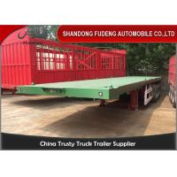 Wholesale 3 Axles 40 Ft 20 Ft Flatbed Trailer 70 Tons Payload Optional With 12R22.5 Tires from china suppliers
