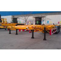 Wholesale 48ft 40 Tons Gooseneck Flatbed Container Trailer , 3 Axles Flatbed Truck Trailer from china suppliers