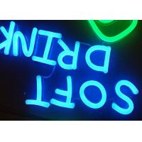 Quality Acrylic Retro LED Neon Signs Letters , Bright Neon Business Signs Low Power Consumption for sale