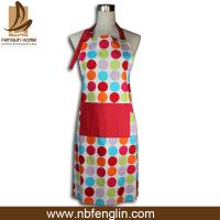 Quality Custom Colored Home Cooking Cotton Kitchen Apron 70 x 80cm 250gsm BBQ Apron for sale