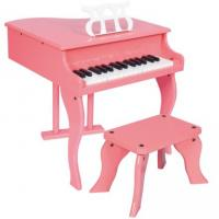 Wholesale 30 Key Pink Mini Grand Toy Wooden Piano With Stool Junior Keyboard Instrument W30 from china suppliers