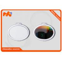 Wholesale Travel Cosmetic Sublimation Compact Mirror For Girls Iron Plating from china suppliers