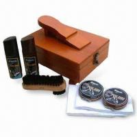 Wholesale Shoe Care Set, Includes 2 Pieces of 75mL Liquid Polish and White Cotton Cloth from china suppliers