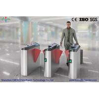 Wholesale Metro / Railway Station Flap Barrier Turnstile Fully Automatic With Access Control Systems from china suppliers