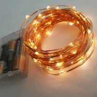 Wholesale 10m 100 LEDs Battery Powered Copper Wire LED Strip Light from china suppliers
