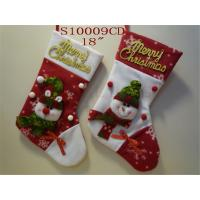 Wholesale China personalized fabric applique kit socks holders wool felted Bulk Christmas stockings adorned with elk Santa Claus b from china suppliers