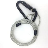 Quality 4.0mm 7*19 Pvc Coated Galvanized/stainless Steel Wire Rope With Carabiner Lock for sale