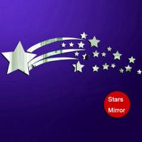 Wholesale stars PS wall decal,1MM thickness 3D mirror stickers,20 stars home decor kids bedroom from china suppliers