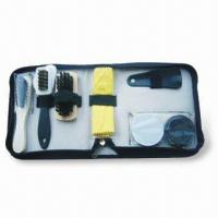 Wholesale Shoe Polish Set, Includes 1 Piece of Deer Fur Brush and 27 x 12cm Yellow Cloth from china suppliers
