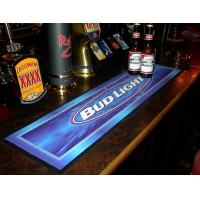 Wholesale Custom print Logo NBR pvc rubber felt bar spill mat, bar runner bar mat with full colour manufacturer hot wholesale from china suppliers