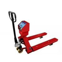 Wholesale Red Hand Operated Pallet Truck Scales 1.5T 2T 3T Carbon Steel For Food Industry from china suppliers