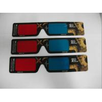 Wholesale Paper Anaglyph 3D Glasses Red Blue  from china suppliers