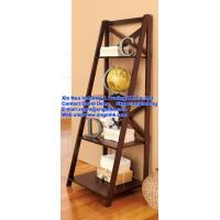 Wholesale Real-time wooden ladder multi-level shelves, layer 4 built-in racks, shelves, rack from china suppliers