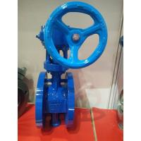 China Worm Gear Double Flanged Ductile Iron Eccentric Butterfly Valve on sale