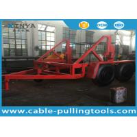 Wholesale 12 Ton Capacity Cable Drum Trailer Underground Cable Tools With Hand Brake and Air Brake from china suppliers