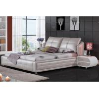 Wholesale leather bed,modern bed,double bed,queen bed frame,bed furniture,leather round bed from china suppliers