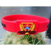 Wholesale Sports Silicone Wrist Bracelets Eco-friendly Silkscreen Printing from china suppliers