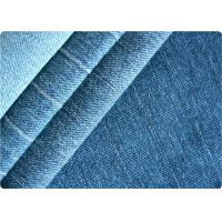 Wholesale Vintage Women / Mens Knit Denim Fabric , Gament Pants Light Blue Denim Fabric from china suppliers