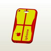 Wholesale Customized Mobile Phone / Cellphone / Iphone Silicone Cases Covers With Apple Pattern from china suppliers