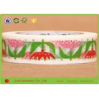 Wholesale Single Sided Colorful Adhesive Washi Masking Tape Gravure Printing Water Activated from china suppliers