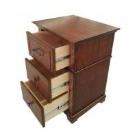 Wholesale 3 Drawer Hotel Bedside Tables For Bedroom Furniture , Walnut Veneer from china suppliers