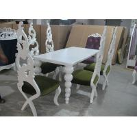 Wholesale Elegant White Wooden Modern Dining Room Tables And Chairs 180 cm from china suppliers