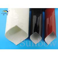 Wholesale Silicone Rubber Sleeve / Silicone Fiberglass Sleeving Flame Retardant 0.5mm ~ 30.0mm from china suppliers