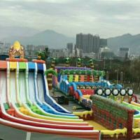 Buy cheap 80 M Long PVC Tarpaulin Inflatable Jungle Fun Games For 100 Person from wholesalers