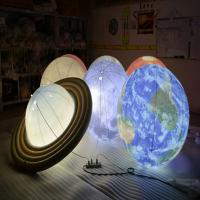 Wholesale 1m Inflatable Advertising Balloons / LED Lighting Universal Globe for Decoration from china suppliers