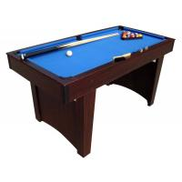 Wholesale Family Pool Game Table 5 FT Billiard Table Wood Solid MDF With PVC Laminated from china suppliers