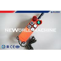 Wholesale F21-4s Industrial Wireless Crane Radio Remote Control , Single / Double Speed from china suppliers