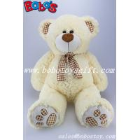 Wholesale Toy,Plush Toy,Plush Stuffed Toy Beige Teddy Bear with Check Design Scarf and Paw and ear from china suppliers