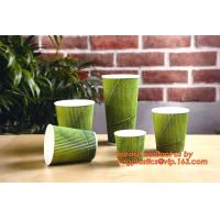 Wholesale 8oz/12oz/16oz/20oz disposable hot drink coffee paper cup with lid and sleeve from china suppliers