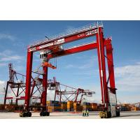 Wholesale High Quality 30-50Ton Rubber Tyred Gantry Crane, RTG container Crane from china suppliers