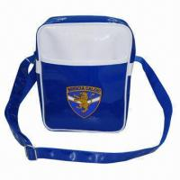 Buy cheap PVC Leather Shoulder Bag/Satchel Bag, Sized 20 x 8 x 28cm, 210D Polyester Lining from wholesalers