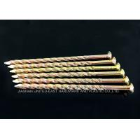 Wholesale Yellow Zinc Plated Twisted Shank Nails / Wooden Pallet Nails from china suppliers
