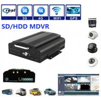 Wholesale 4Ch SD / HDD 3G Mobile DVR Security Camera System Support Real Time Recording from china suppliers
