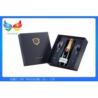 Wholesale Fashion Portable Elegant Paper Wine Box Embossed Finishing For Whisky Gift Package from china suppliers