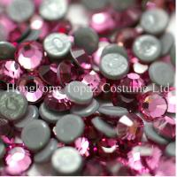 Wholesale SS16/4mm Rose Extra strong glue heat transfer iron on bling rhinestone from china suppliers