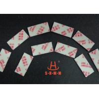 Quality Fiber Rice Desiccant With Thin Sticker Tape , Food Grade Desiccant Packets 1.0mm Thickness for sale