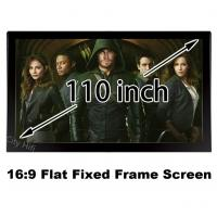 Wholesale Top Rank 4k Projector Screen 110 Inch Unbent DIY Wall Mount 137x244cm Projection Screens from china suppliers