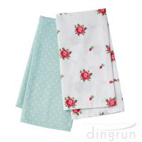 Wholesale 100 Cotton Woven Kitchen Towels Flower Design Fast Dry Environment Friendly from china suppliers