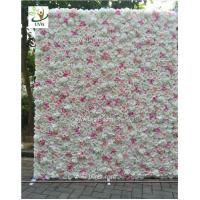 Wholesale UVG CHR1136 DIY backdrop wedding in pink artificial rose flower wall for stage decoration from china suppliers