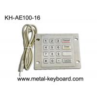 Wholesale Dustproof USB Port Industrial Stainless Steel Keypad Metal With 16 Flat Keys from china suppliers