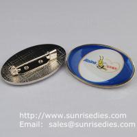 Wholesale Epoxy dome lapel pin badge with safety pin, China lapel pin badge factory for cheap from china suppliers