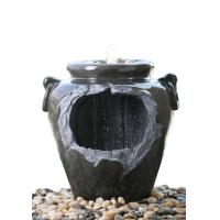 "Quality Chinese Style Jar Asian Garden Fountains , Outdoor Cascading Water Fountains 18"" for sale"